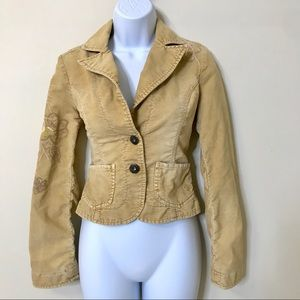 Guess Jeans Vintage Nude Corduroy Jacket Small